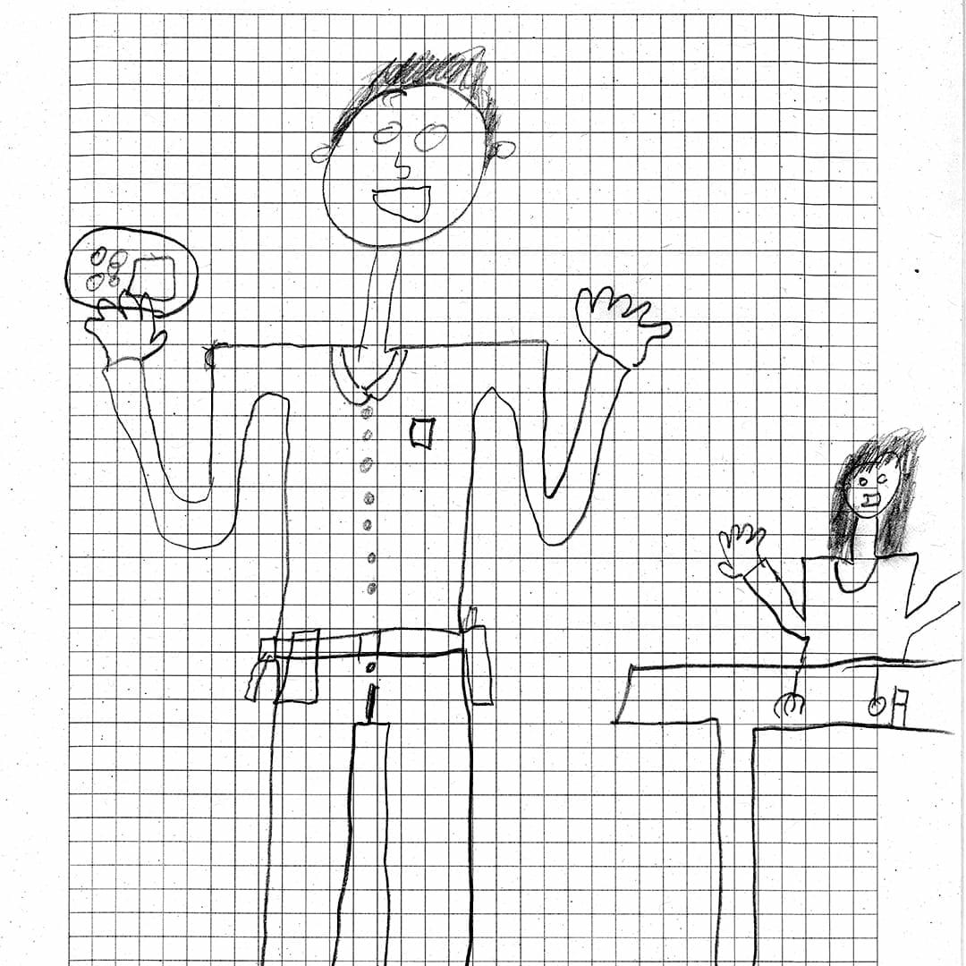 Zeitgeist Mitarbeiter Florian Zeichnung