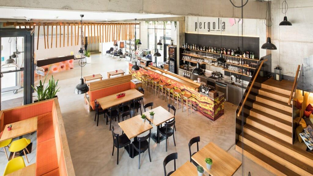 Lokal-Cafe-Bar Pergola im Zeitgeist Vienna